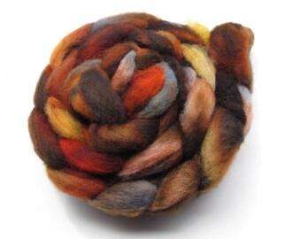 Hand-dyed Shetland Roving, 4oz