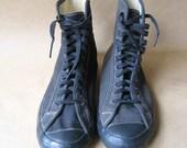 Vintage Chuck Taylor Black Canvas Wrestling Shoes