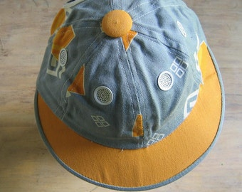 Vintage Cotton Cap Geometric Print with Air Vents