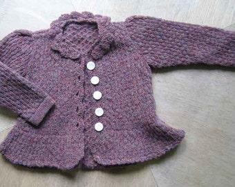 Baby Sweater Shetland Wool Knitting Machine with Hand Crochet Trim