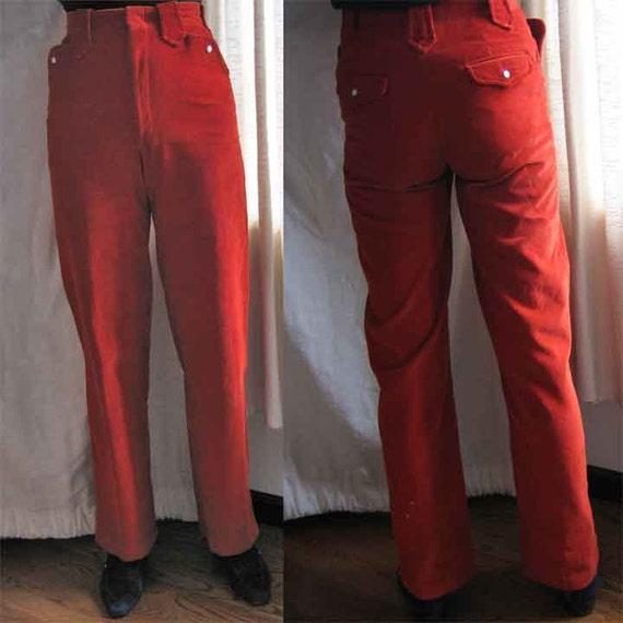 Vintage Ralph Lauren Orange Corduroy Western Style Pants