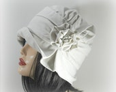 Very Vintage Cloche Hat for Women, Winter White Wool