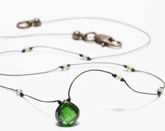 Emerald Green Heart Shape Cubic Zircon Choker Necklace
