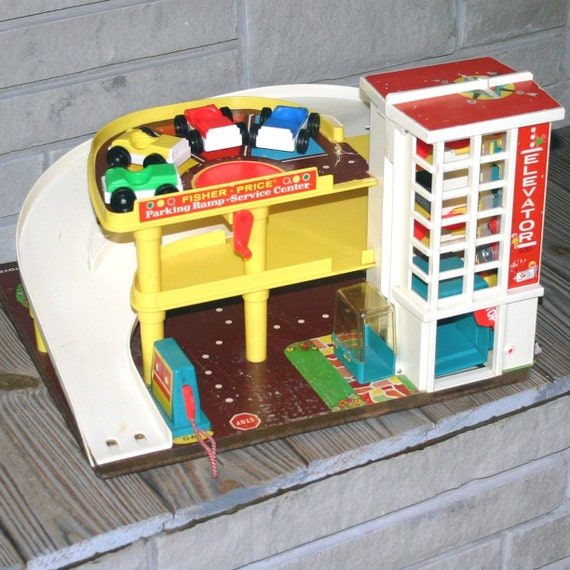 Parking Garage Prices: Vintage Fisher Price Little People Parking By