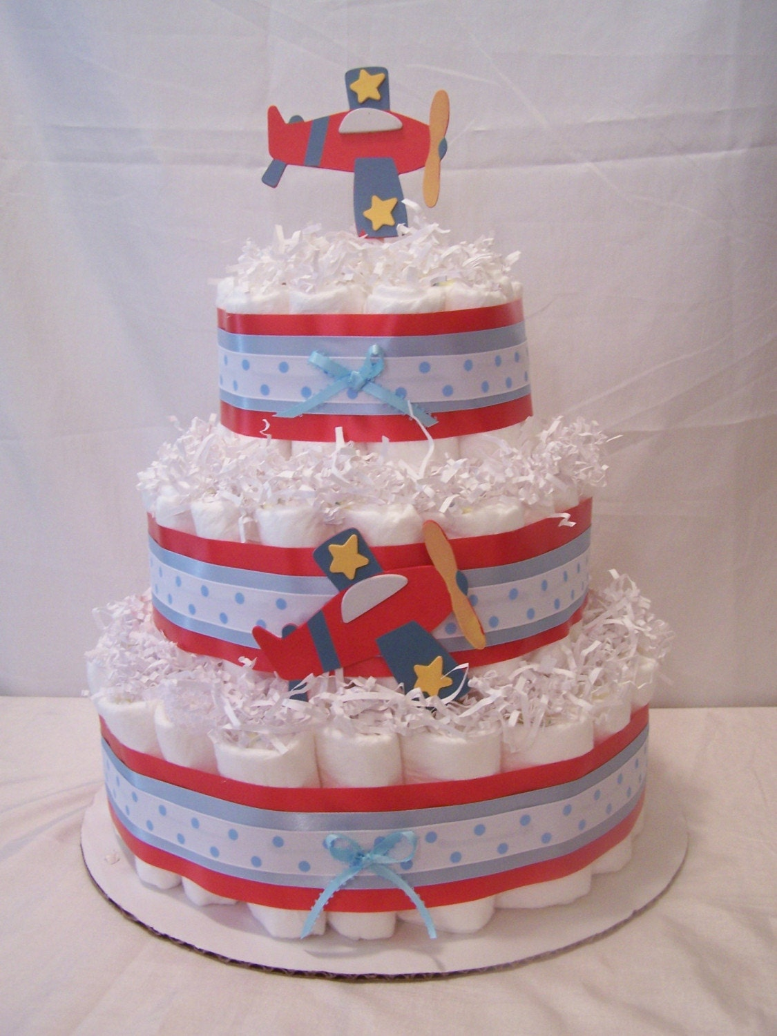 Airplane Diaper Cake 3 Tier