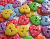 Dotty Hearts button pack x 60