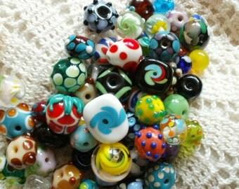 6 Custom Order Handmade Lampwork Glass Beads