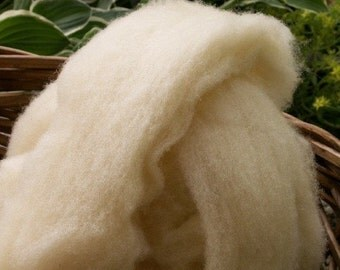 Babydoll Southdown Wool Roving - 4 oz. - White