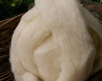Babydoll Southdown Wool Roving - 8 oz. - White