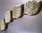 Birch Leaf Ceramic Fridge Magnets