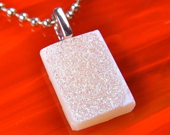 Handmade Dichroic Druzy Drusy Necklace Pendant ...includes chain or cord...