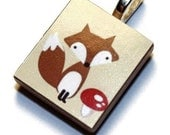 Scrabble Pendant- Cute Fox- Buy 3, Get 1 Free