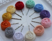 LITTLE LOU - You pick the color -  rosette hair pin