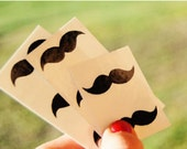 Mustache temporary tattoos - pack of 10