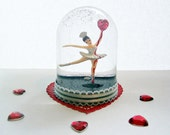 Bleeding Heart Ballerina Snow Globe Anti-Valentine's Day
