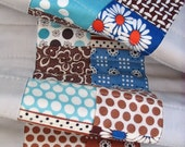 SALE SALE SALE - Brown and Aqua Modern Baby Quilt by Red Pepper Quilts