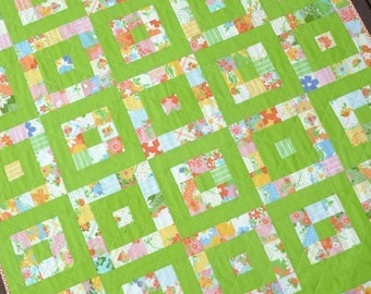 Take 1  A Layer Cake Quilt - Pattern (PDF file) - Immediate Download