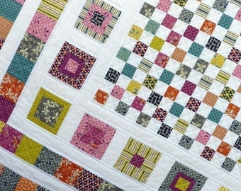 Bricks and Stones Quilt Pattern - PDF file by Red Pepper Quilts - immediate download