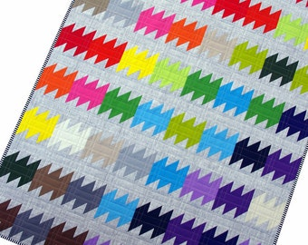 Rainbow Ripple Quilt Pattern (PDF FILE) - immediate download
