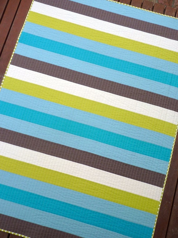 Bayou - A striped solid quilt by Red Pepper Quilts