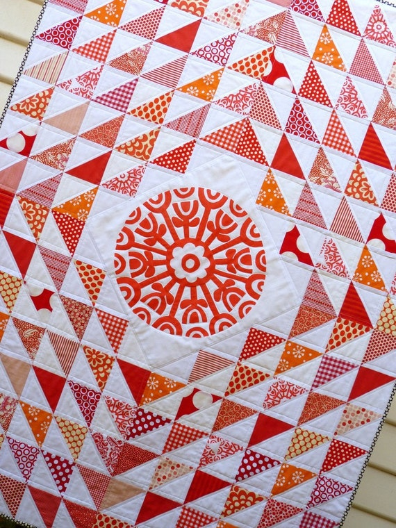 Charming Triangles Quilt by Red Pepper Quilts