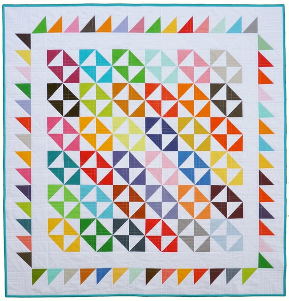 Broken Dishes Quilt by Red Pepper Quilts