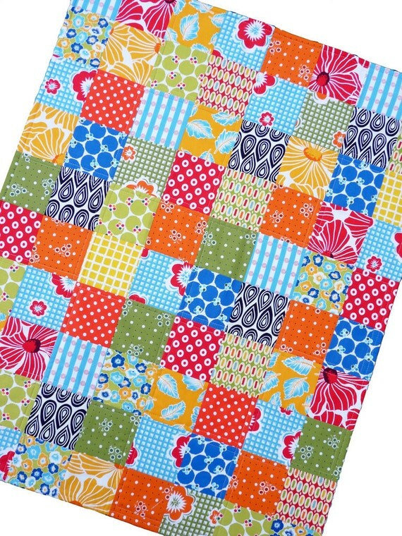 Colorful Patchwork Quilt -- by Red Pepper Quilts