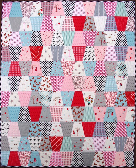 Girly Girl Girl -  A Modern Patchwork Tumbler Quilt