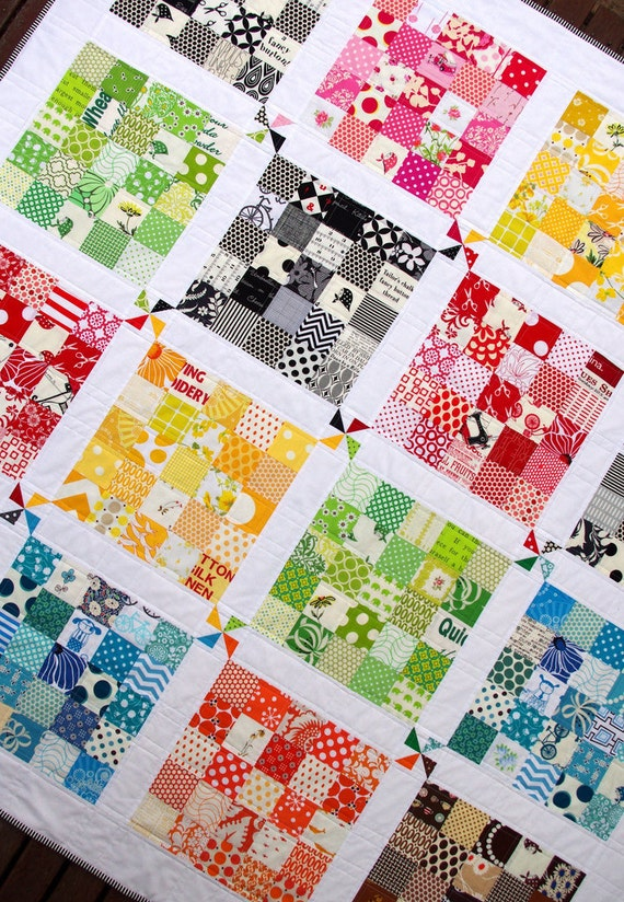 Quilter's Palette Quilt - A modern and colorful Patchwork Quilt