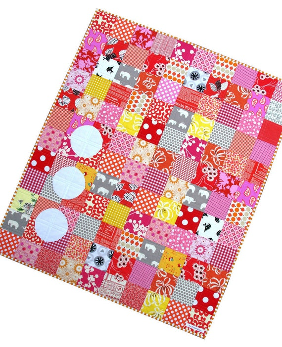 Modern and Colorful Patchwork Baby and Children's Quilt