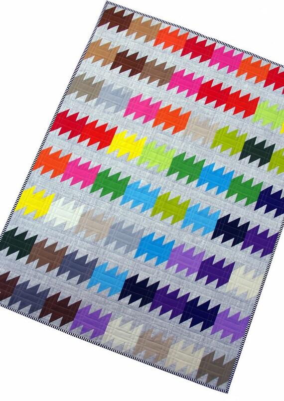 Rainbow Ripple Quilt Pattern (PDF FILE) - immediate download