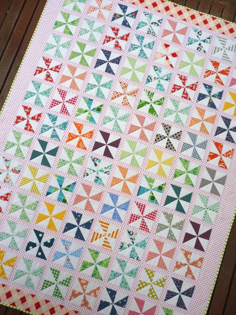 Pinwheels on Parade Quilt Pattern PDF File Immediate
