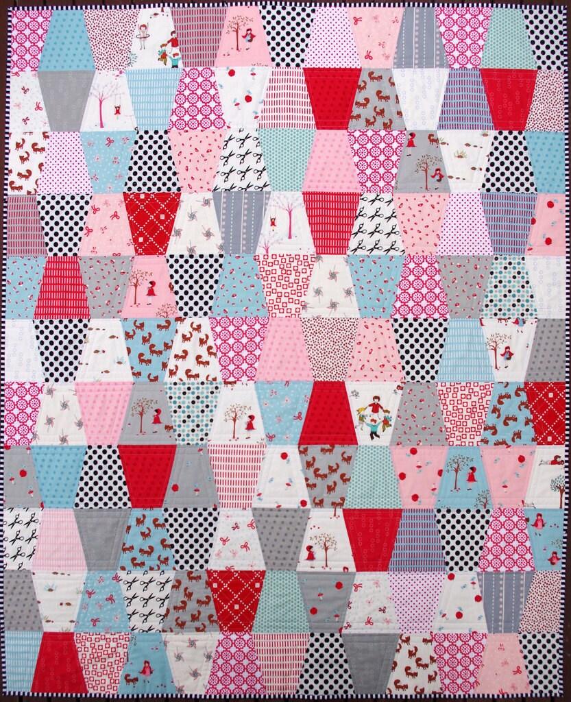Girly Girl Girl A Modern Patchwork Tumbler Quilt