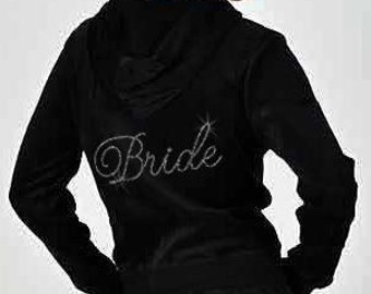 Rhinestone Bride Velour Hoodie and Pants Set - FALL SALE!!!