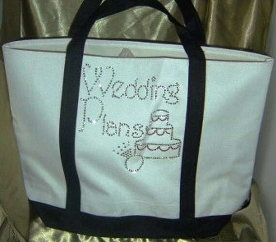 Rhinestone Wedding Plans Tote Bag - Cute Bridal Shower gift or Bridal Show bag
