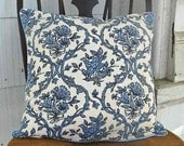 Peace Out...Vintage barkcloth fabric Cushion Pillow Cover 16 x 16