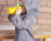 Natural linen hoodie