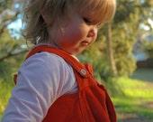 Pinafore Dress - orange, cord