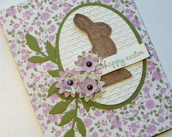 Vintage Inspired Bunny Easter Card Stampin Up