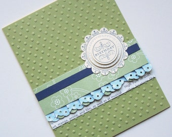 Vintage Style Sophisticated Birthday Card Stampin' Up
