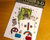 NODIVISION 3D Screen Print and Sticker Pack