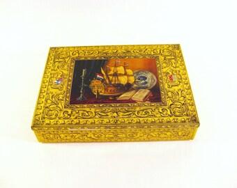 Vintage Dutch Sailboat Tin