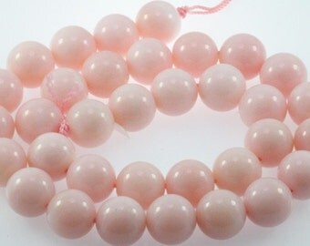 natural pink opal smooth round 12mm