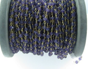 AMETHYST FACETTED BEADS chain