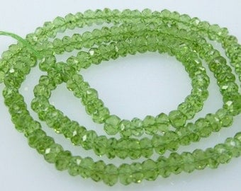 peridot faceted roundel AAA