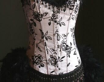 SUCRE  Burlesque Costume Pink Black corset dress
