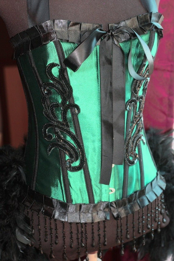 ABSINTHE Circus Moulin Burlesque Corset Costumes Rouge Black outfit Green Fairy