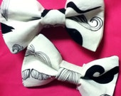 The Moustache Dog Bow Tie