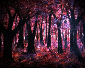 Scarlet Grove print, image of original artwork