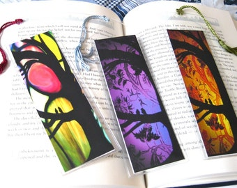 Alchemy bookmark with 2 images of original artwork